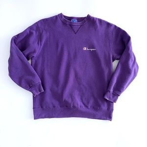 Champion Unisex Vtg XL Purple Crewneck Sweatshirt